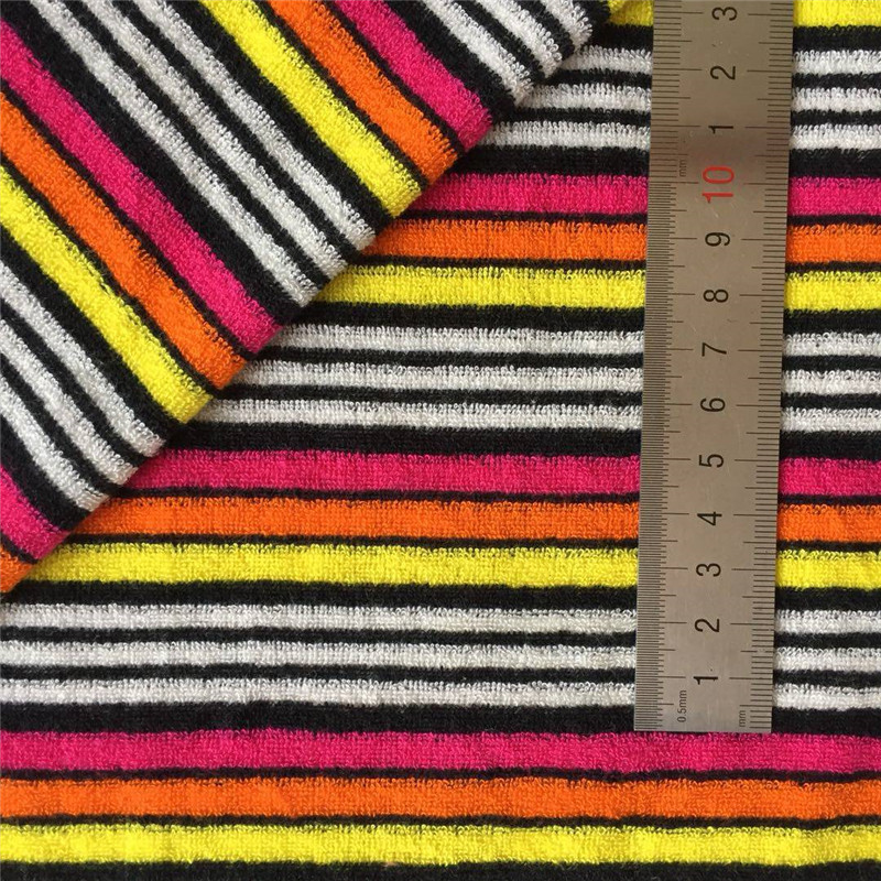 Yarn Dyed Striped Terry Towelling Fabric