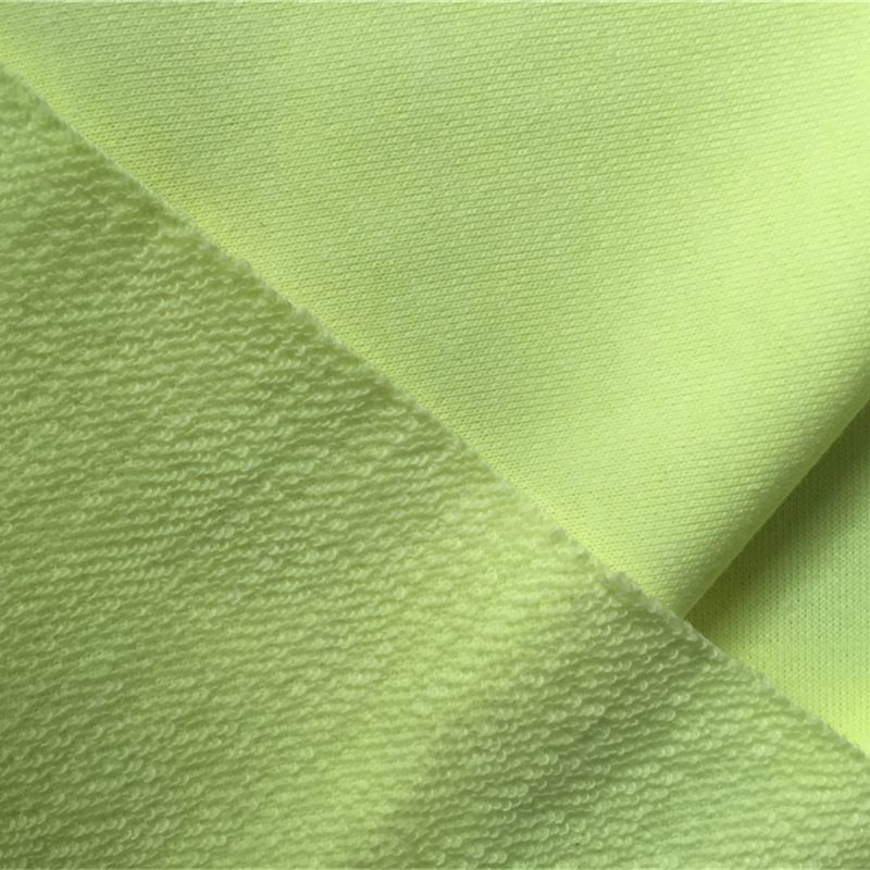Solid cvc french terry fabric
