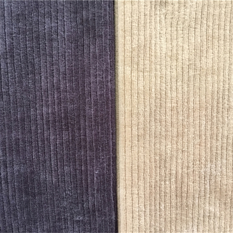 Organic cotton ribbed velour