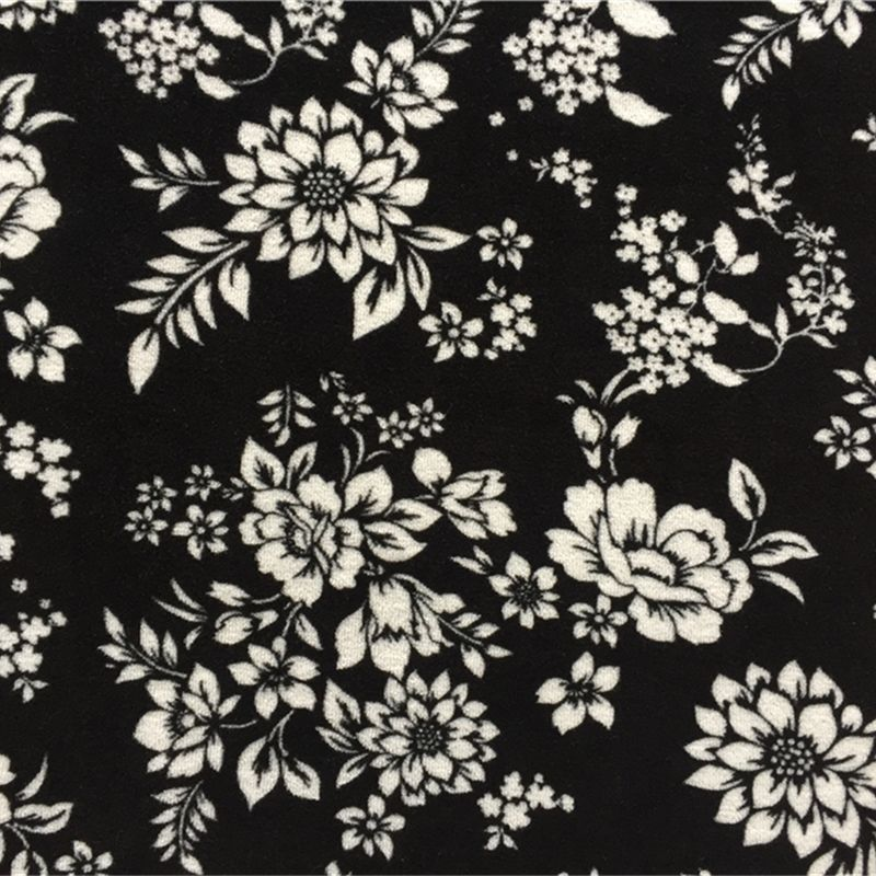 BCI cotton flower print fabric